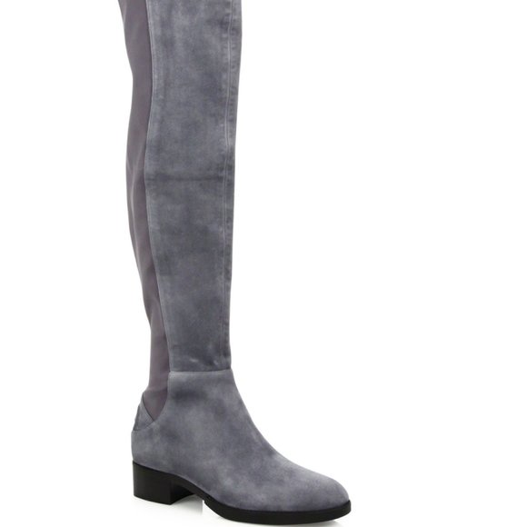 TORY BURCH Caitlin Stretch Suede Over Knee Boot 6M